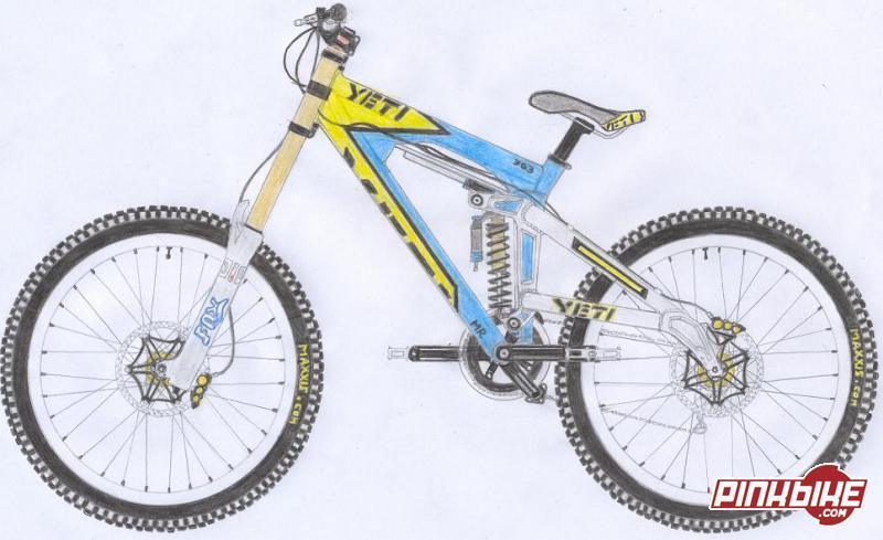 Bike en dessin 3d etc - Dessin velo vtt ...